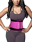 SHAPERX Waist Trainer Sweet Sweat Bands Trimmer Ab Belts Double Support for Weight