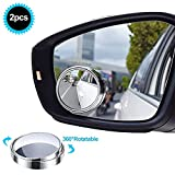 Uni-Fine Rotazione di 360 ° HD Specchietti per Angolo Morto Specchio Punto Cieco Regolabile, Auto Specchio Laterale Universale 360 Grandangolare Regolabile (2 Pack)
