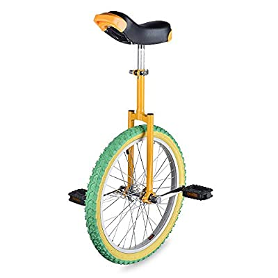 """AW 20"""" Inch Wheel Unicycle Leakproof Butyl Tire Wheel Cycling Outdoor Sports Fitness Exercise Yellow Green"""