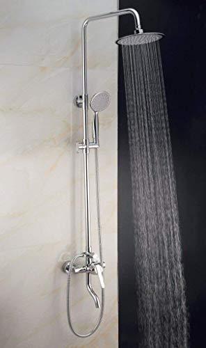 Baño Grifo para lavabo Grifo para lavabo Grifo para ducha Dispositivo de ducha de latón Agua fría y caliente Conjunto de ducha de lluvia circular Grifo para lavabo de mano Grifo para barra de baño
