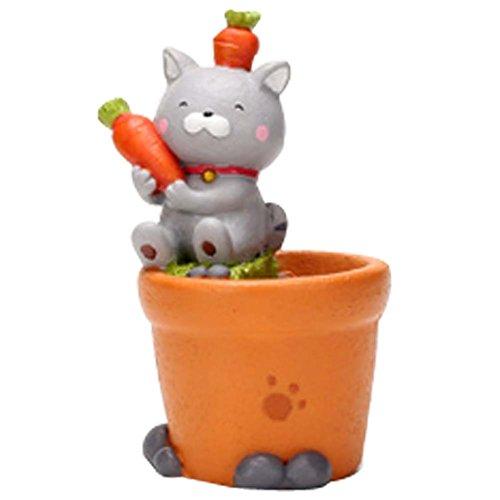 Mini résine Carrot Cat Cartoon Flower Pot Décorations de table