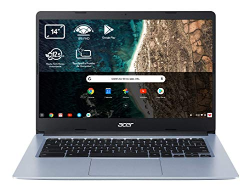 "Acer Chromebook 314 - Portátil 14"" HD (Intel Celeron N4020, 4GB RAM, 32GB eMMc, Intel UHD Graphics, Chrome OS), Color Plata - Teclado Qwerty Español"