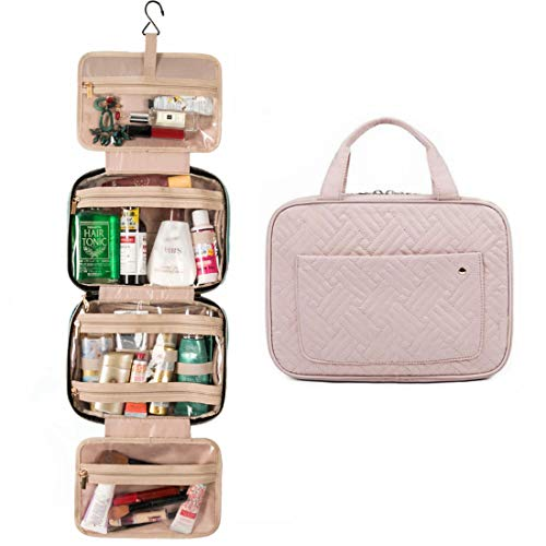 Travel Toiletry Bag with Hanging Hook, Water-resistant Makeup Cosmetic Bag Large Capacity Travel Accessories Organizer for Women Trave/Daily Use
