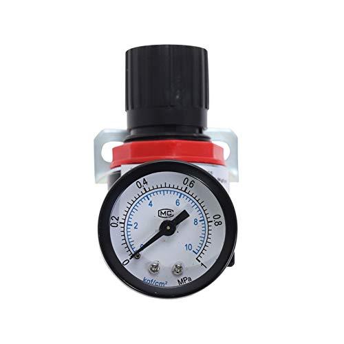 Duradero Válvula de reducción del regulador de presión del compresor de aire neumático de AR2000 1/4 'Hilo BSP 4 mm 6 mm 8 mm 10 mm 12 mm accesorios de conector Fácil de instalar ( Color : AR2000 )