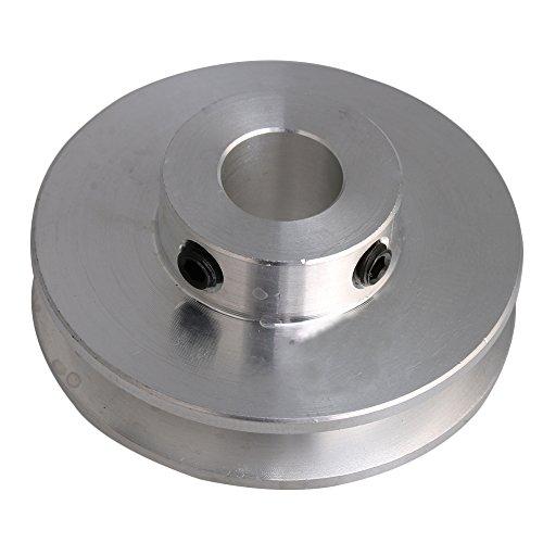 Bqlzr 41 x 16 x 10 mm argento alluminio singolo Groove 10 mm foro fisso puleggia per albero motore 3 - 5 mm tondo PU cintura