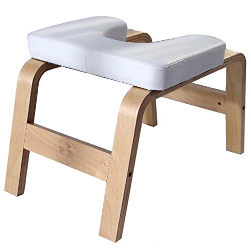 Find Bargain LI LU SHOP Wooden Yoga Headstand Bench, Soft PU Mat, Balanced Body Headstand Bench, Fit...
