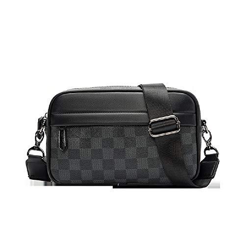 Postman Umhängetasche Kleine Messenger Bag Trendy Marke Taille Tasche Casual Rucksack Männer Brusttasche Schultertasche Herren Tasche,Black-25.8.17