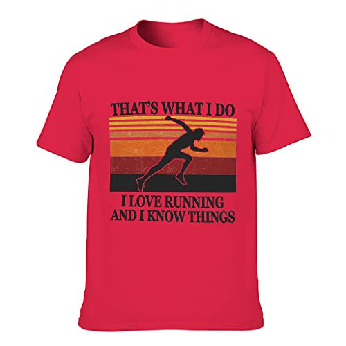 LL·Shawn Camiseta de algodón para hombre Love Running Know Things - Deportes Hobby Fashion Top Wear