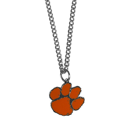 NCAA Siskiyou Sports Fan Shop Clemson Tigers Chain Necklace with Small Charm 22 inch Team Color