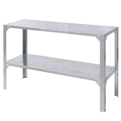 Potting Table Storage Shelves Galvanized Steel Workbench Greenhouse Prepare