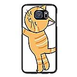 Overlanlobal Orange Cat Snuggle Samsung Galaxy S7 Edge Cases Black Shock Absorbing Shatter-Resistant Scratch Resistant Delicate Transparent Phone Case