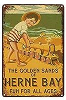 ヴィンテージメタルティンサインバークラブカフェファームの家の装飾アートポスターの黄金の砂