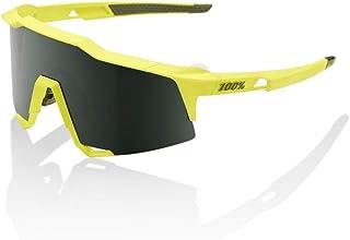 100 Percent - SPEEDCRAFT-Soft TACT Banana-Grey Green Lens Gafas, Hombres, Amarillo-Cristal Oscuro, Mediano