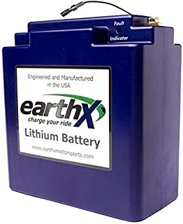 EarthX Batteries ETX680 Lithium Starter Battery for Experimental Aircraft with 60 Amp or Less Alternator