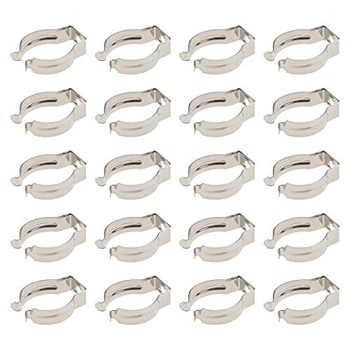 20 portalámparas T8 en forma de U para tubo fluorescente (4 mm)