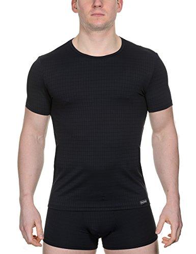 Bruno Banani Shirt Check Line Tricot, Noir à Carreaux (125), S Homme