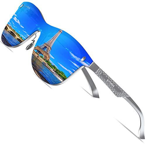 KITHDIA Polarisierte Sonnenbrille Herren Damen Aluminium Magnesium Metallrahmen S8203