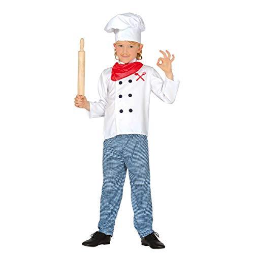 Guirca-83362 Disfraz 5-6 aos Cocinero, Multicolor (83362)