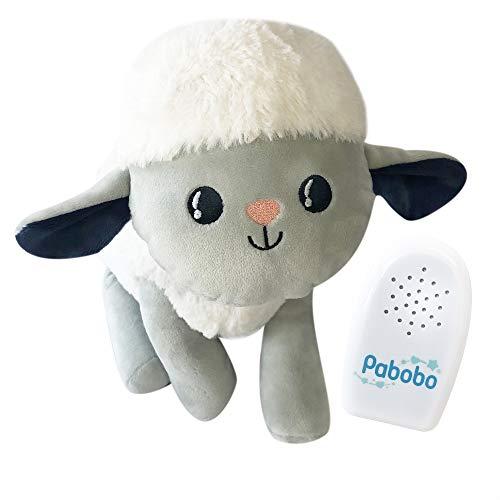 Pabobo - Kid Sleep SOSO-SHEEP01 - Pabobo Milo la pecora - Peluche per addormentarsi - Calmante - Giocattolo, bianco