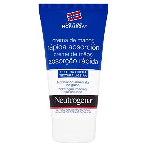 Neutrogena - Crema de manos, absorción rápida, para manos secas y estropeadas, textura ligera, 75 ml
