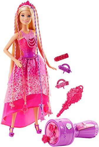 Barbie DKB62 modepoppen, 4 Verenigd Koninkrijk, toverhaar vlechtplezier prinses