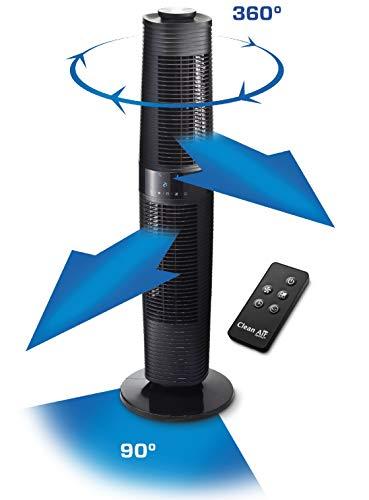 Bester der welt Saubere Luft Optima CA-406B Turmventilator Design – Luftbewegung: Bis zu 520 m³ / h – Vibration: 90º und…