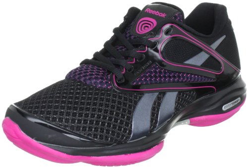 Reebok Easytone Plus Vive 150343, Damen Sportschuhe - Fitness, Schwarz (black/rivet grey/condensed pink 1), EU 41 (UK 7.5)