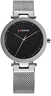 Curren 9005 Quartz Movement Round Dial Stainless Steel Strap Waterproof Women Watch - Silver, Black