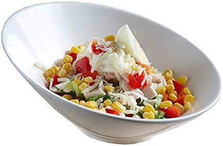 Lirios 350.932 Inclinados asimétrica Gourmet – Cuenco, Color Blanco, diámetro 21,5 cm