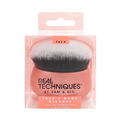 Real Techniques 1854M, Makeup Brush Blender for Face Body Makeup Bag Essential for Foundation Bronzer, pink