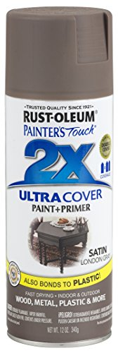 Rust-Oleum 249857 Painter's Touch 2X Ultra Cover, 12 Oz, Satin London Gray