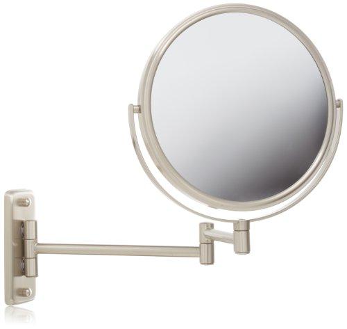 Jerdon JP7808N Wall Mount Mirror, Nickel, 13.5-Inch Extension
