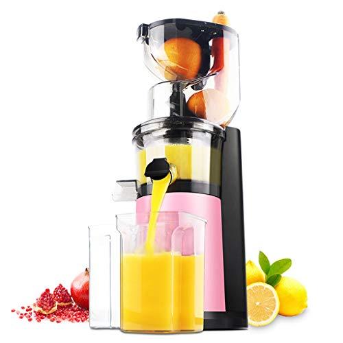 Presse-agrumes Creative Light- Machine à jus de ménage, Lente, à Basse Vitesse, taux de jus élevé (Couleur : Pink)