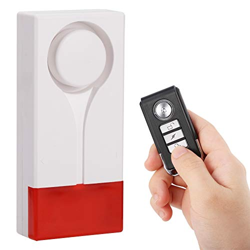 ASHATA raamalarm deuralarm, deur raam alarm Home Alarm System Alarmsysteem Veiligheidstechniek, inbraakbeveiliging draadloze afstandsbediening Home Security Vibratiealarm Magnetic Voice Alarm met geluid licht