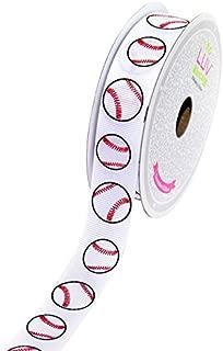 LUV RIBBONS GSO0708-BAS Grosgrain 7/8-Inch Sports Ribbon, 10-Yard, Baseball