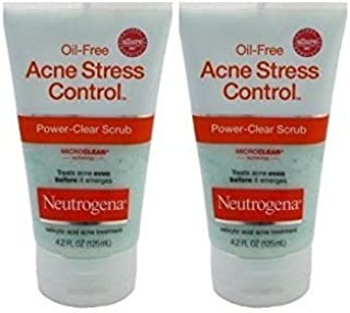 Neutrogena Acne Stress Control Power Clear Scrub 4.2oz (2 Pack)