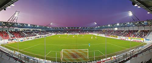 Halle Stadion Panorama – Poster 120 x 50 cm – hochwertiger FineArtPrint
