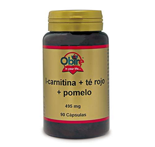 L-carnitina + té rojo + pomelo 495 mg. 90 cápsulas
