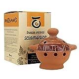 Brucia incenso Palo Santo Modello Chorrera - Porta incenso in Terracotta - Bruciatore di incenso Ideale per Grani, Coni e Trucioli - Profumatore per Ambienti - Realizzato a Mano