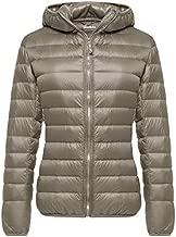 Wantdo Women's Short Winter Warm Down Jacket Lightweight Coat Khaki Medium
