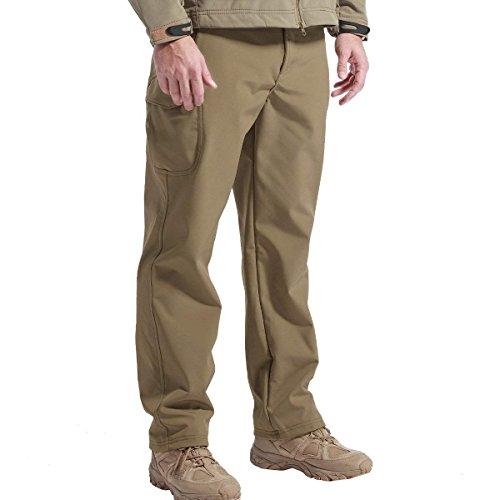 FREE SOLDIER Men's Outdoor Softshell Fleece Lined...