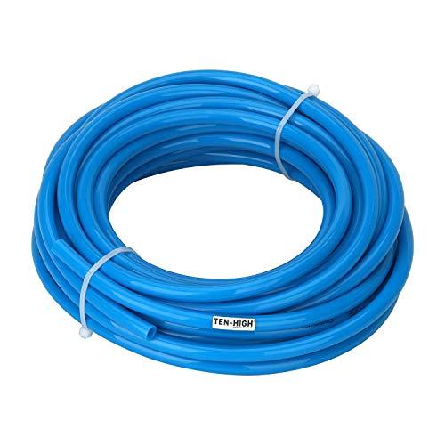 TEN-HIGH - Manguera flexible de poliuretano (20 m, 4 mm de diámetro x 6 mm de diámetro, tubo de alta presión, trazo de aire, 1 mm de grosor).