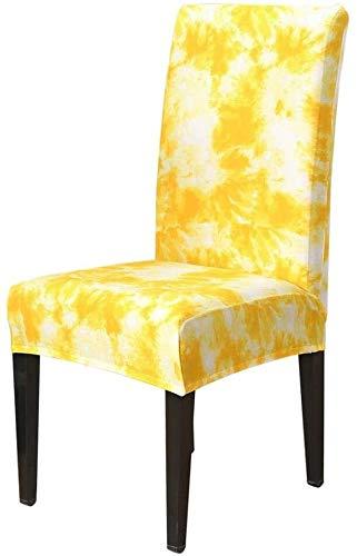 Comedor cubierta de la silla extraíble y lavable Silla Silla de cubierta cubre Spandex impresión de la flor estiramiento elástico Fundas cenar banquete de la boda plegable Silla de restaurante cubiert
