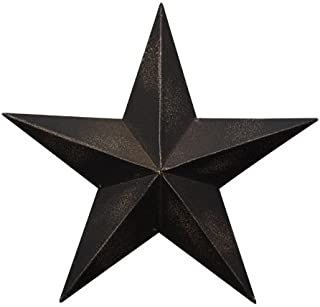 CWI Gifts Barn Star Wall Decor, 24-Inch, Antique Black