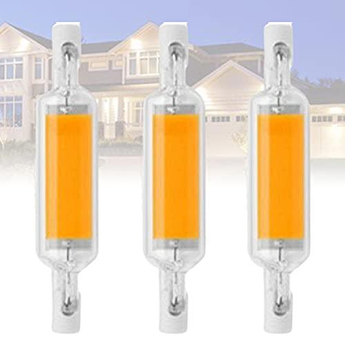 6W 78mm R7S Bombillas LED 60W Equivalente al halógeno Tipo J 110V / 220V R7S Proyector de Doble Base Luz 3000K Luz Diurna (Blanco cálido)