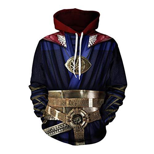MODRYER Costume Cosplay Doctor Who Pullover 3D Stampato con Cappuccio Cappuccio con Coulisse Jumpers Felpa di Natale per l'autunno Inverno,Small