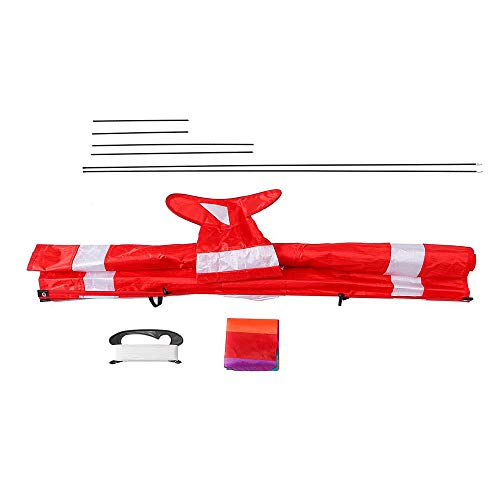 Großer 3D-Flugzeugdrachen, einfach zu montierender und einfacher Flyer, Emulation Fighter-Flugzeugdrachen, Lenkdrachen Fly a Kite, für Erwachsene Kinder Outdoor Aktivitäten, 100 m Kite Line Board