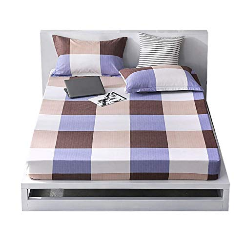 DERCLIVE Juego de ropa de cama de poliéster transpirable y cómodo y sábana bajera (cama individual)