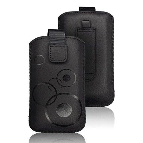 Unbekannt tag-24 Handy Tasche Deko Etui Schutzhülle passend für Doro Primo 413 Farbe schwarz (#890)