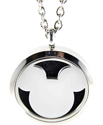FIKA Mickey Mouse Aromatherapy Essential Oils Diffuser Necklace Pendant Air Freshener Locket Pads included